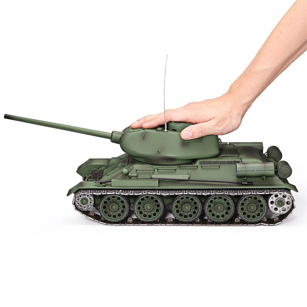 rc-tank Heng Long 3909-1 1/16 2.4G T-34 Rc Car Battle Tank Metal Track W/ Sound Smoke Toy RC1382973 5