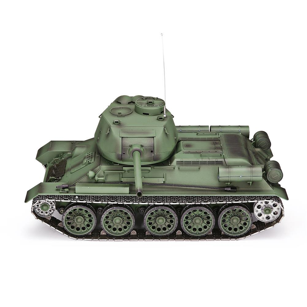 rc-tank Heng Long 3909-1 1/16 2.4G T-34 Rc Car Battle Tank Metal Track W/ Sound Smoke Toy RC1382973 6