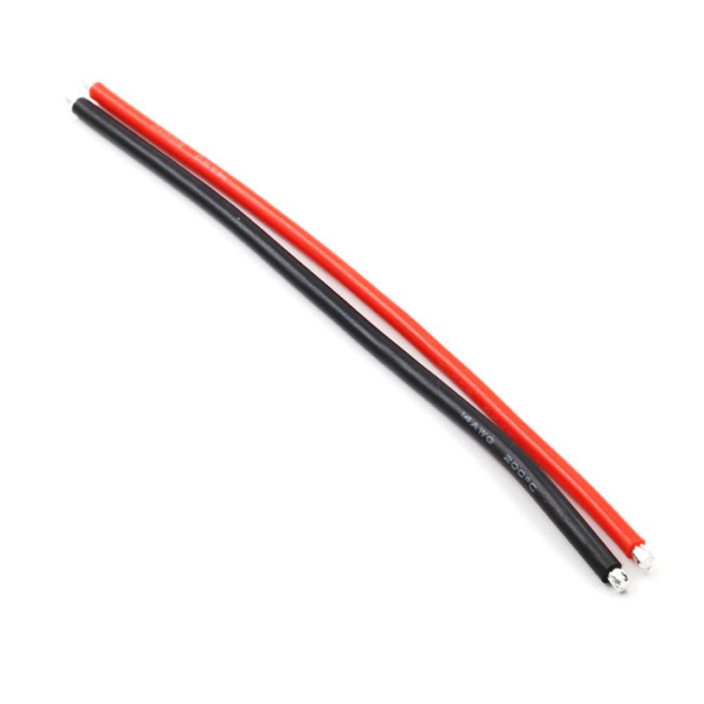 connector-cable-wire 10pcs 15CM 14AWG Silicone Wire Cable Black Red for FPV RC Airplane Model RC1384750 1