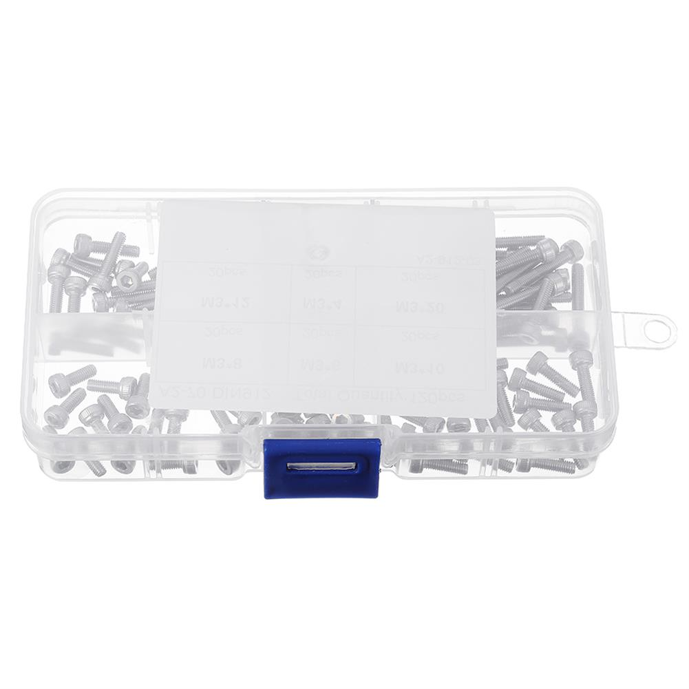 tools-bags-storage-120Pcs M3 304 Stainless Steel DIN912 Screw Hex Socket Cap Repair Tools for RC Model-RC1385643 1