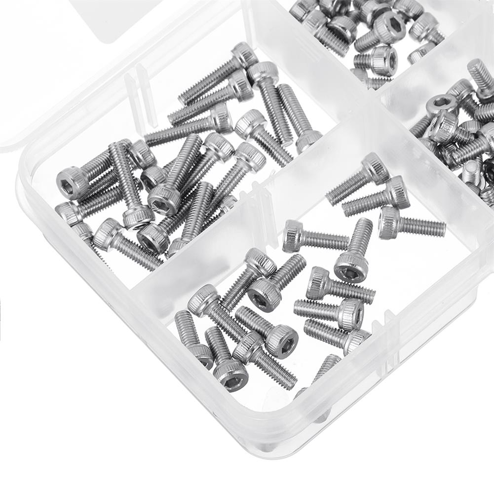 tools-bags-storage-120Pcs M3 304 Stainless Steel DIN912 Screw Hex Socket Cap Repair Tools for RC Model-RC1385643 3