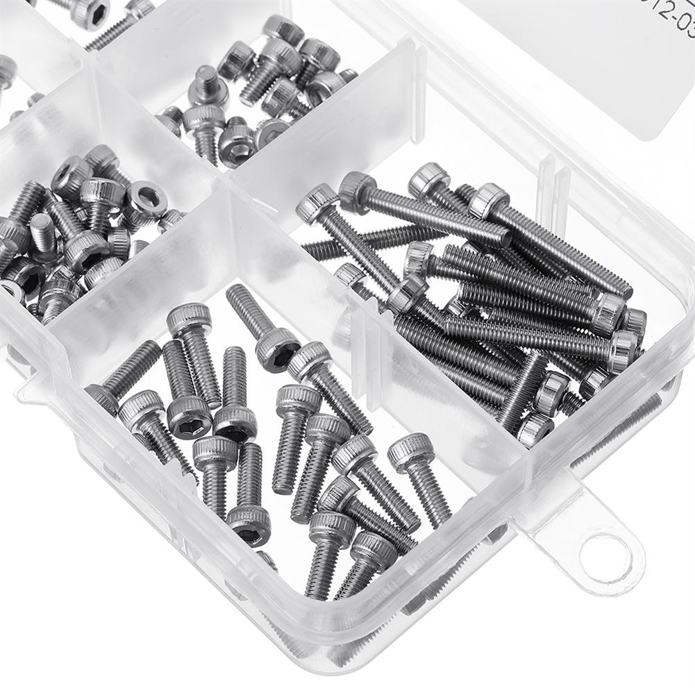 tools-bags-storage-120Pcs M3 304 Stainless Steel DIN912 Screw Hex Socket Cap Repair Tools for RC Model-RC1385643 4