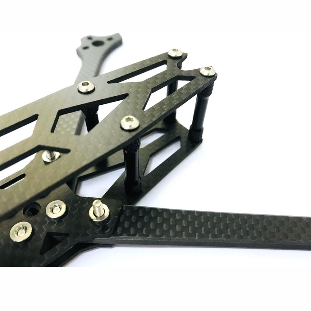 multi-rotor-parts XQ220 V2 220mm Wheelbase 5mm Arm Carbon Fiber FPV Racing Frame Kit 100g RC1386156 4