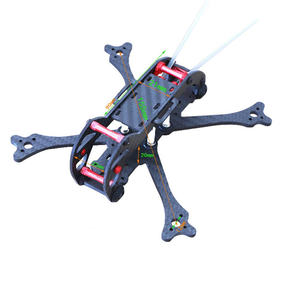 multi-rotor-parts HSKRC 3 Inch 155mm Wheelbase 3mm Arm Carbon Fiber FPV Racing Frame Kit with Protection Ring RC1387514 1