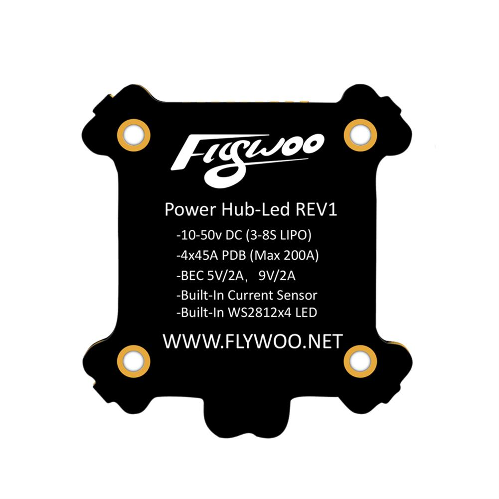 multi-rotor-parts FLYWOO Power Hub-LED REV1 PDB Built In 5V 9V 2A BEC WS2812 LED & 4 PCS 8 Bits LED Board For RC Drone RC1397863 4