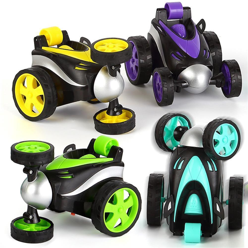 rc-cars 1PC 1/24 Radio Control Stunt Rc Car 360 Degree Rotation Tumbling Truck Random Color W/ O Battery RC1398035