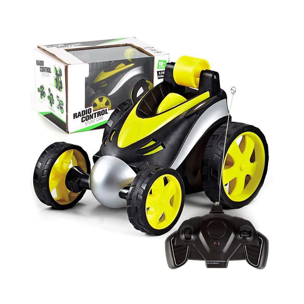 rc-cars 1PC 1/24 Radio Control Stunt Rc Car 360 Degree Rotation Tumbling Truck Random Color W/ O Battery RC1398035 3
