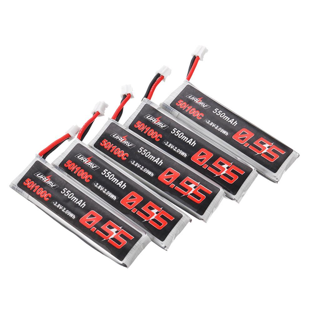 batteries 10Pcs URUAV 3.8V 550mAh 50/100C 1S HV 4.35V PH2.0 Lipo Battery for Emax Tinyhawk Kingkong/LDARC TINY RC1398192 2