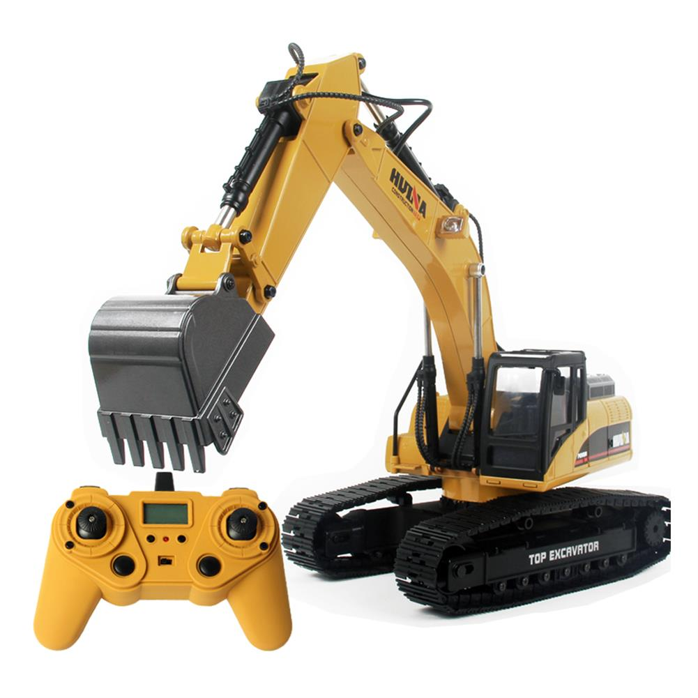 rc-cars HUINA 580 Excavator RC Car Toys Styling 23 Channel Road Construction All Metal Truck Autos RC1398609