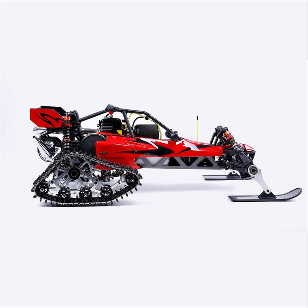 rc-cars Rovan Baja305AS 1/5 2.4G RWD Snow Buggy Rc Car 30.5cc Engine With Tracked + Round Wheels RTR Toy RC1403120 5