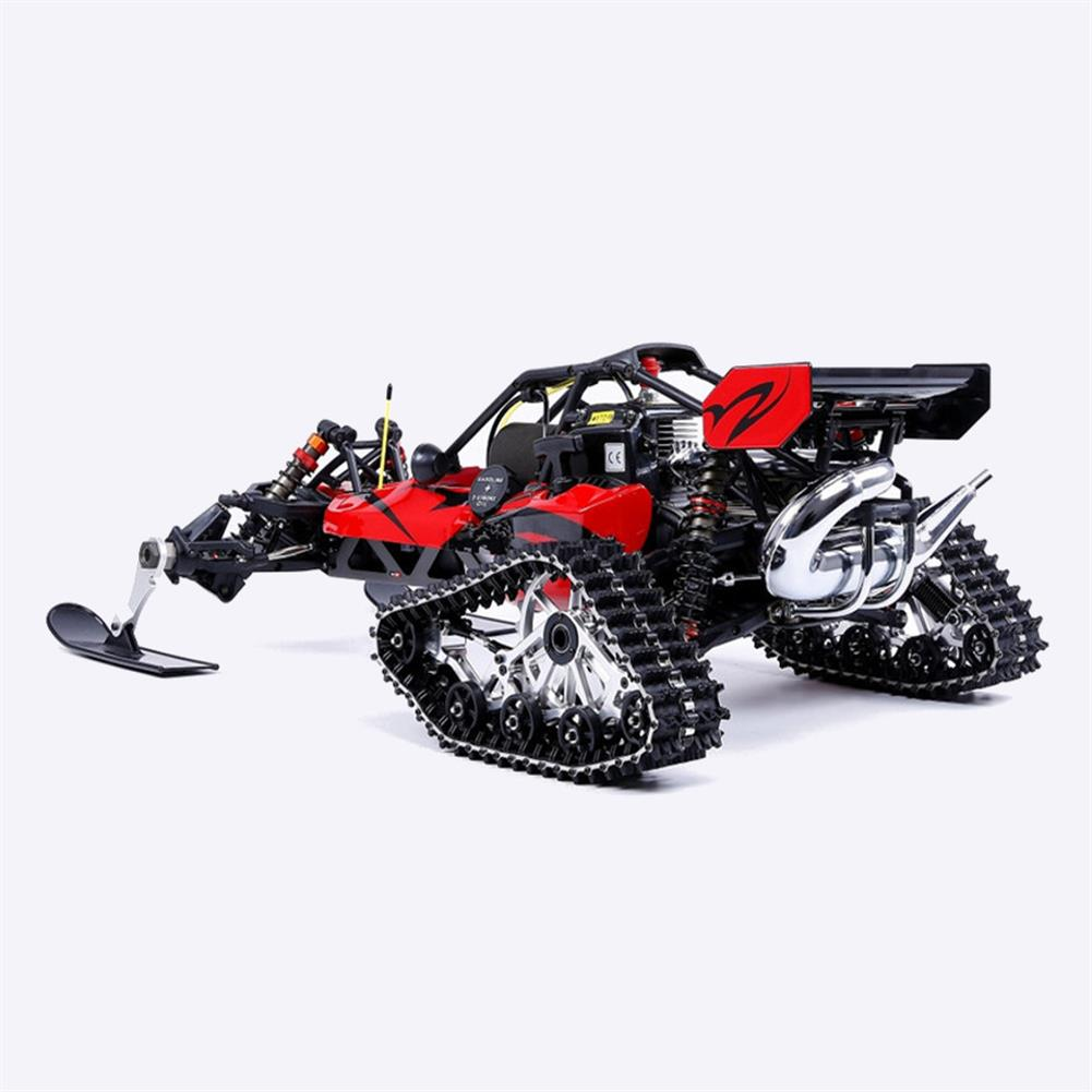 rc-cars Rovan Baja305AS 1/5 2.4G RWD Snow Buggy Rc Car 30.5cc Engine With Tracked + Round Wheels RTR Toy RC1403120 6