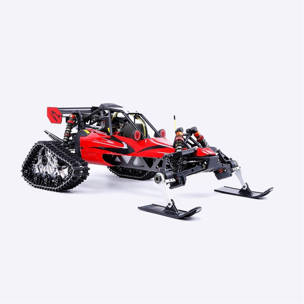 rc-cars Rovan Baja305AS 1/5 2.4G RWD Snow Buggy Rc Car 30.5cc Engine With Tracked + Round Wheels RTR Toy RC1403120 7