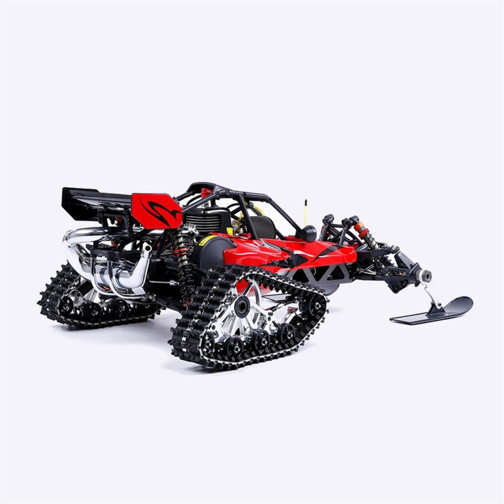 rc-cars Rovan Baja305AS 1/5 2.4G RWD Snow Buggy Rc Car 30.5cc Engine With Tracked + Round Wheels RTR Toy RC1403120 8