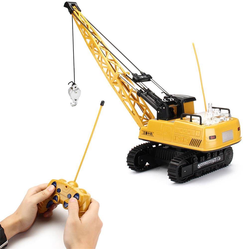 rc-cars Huina Toys 91115 1/14 2.4G 12CH Rc Tower Crane 680 Degree Rotation With LED Light Model Toys RC1412325 1