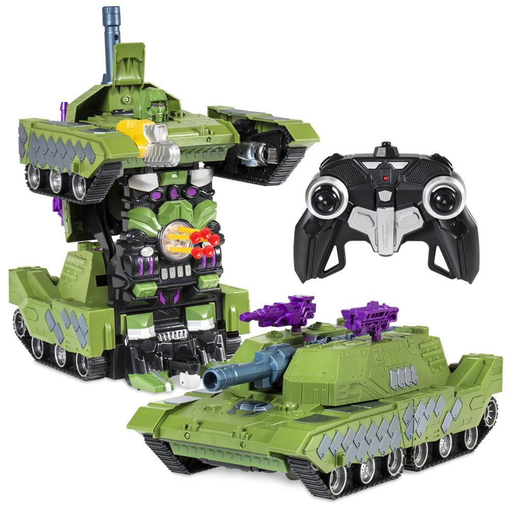 rc-tank MZ 1/14 2.4G Rc Car Deformation Battle Robot Tank 360 Degree Rotated Dancing Toys RC1414406