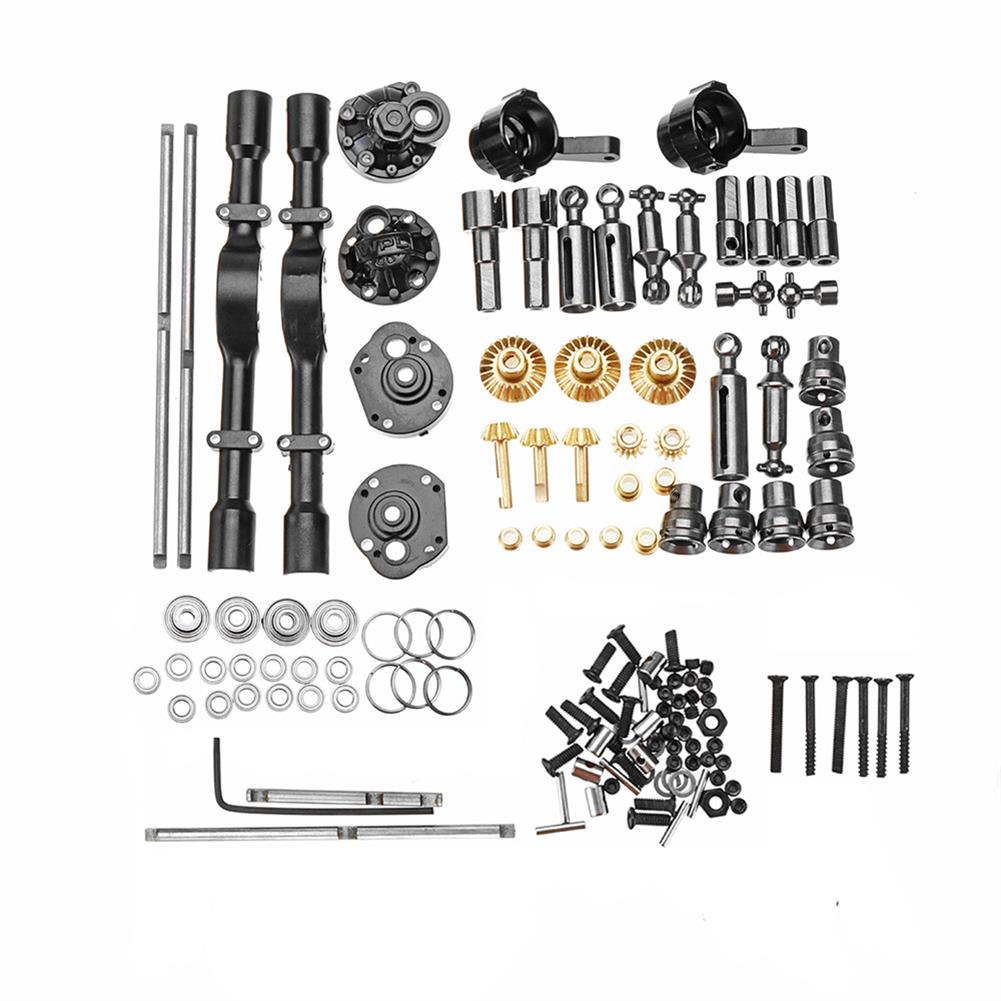 rc-car-parts 1 Full Set Metal OP Replacement Accessories Middle Bridge Axle for WPL B16 B36 1/16 6WD Rc Car Parts RC1423940