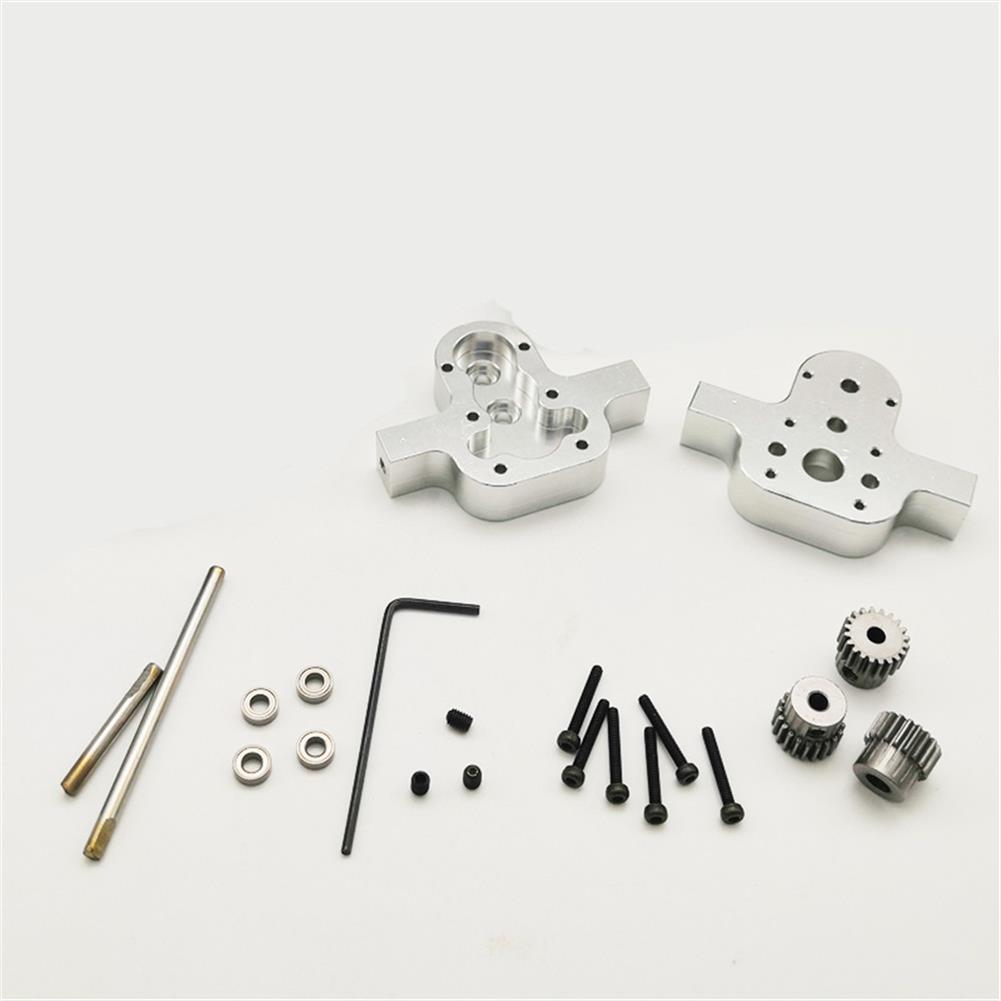 rc-car-parts 1 Set All Metal Transfer Gear Box without Motor for WPL B16 B24 B36 C14 C24 1/16 Rc Car Parts RC1428208