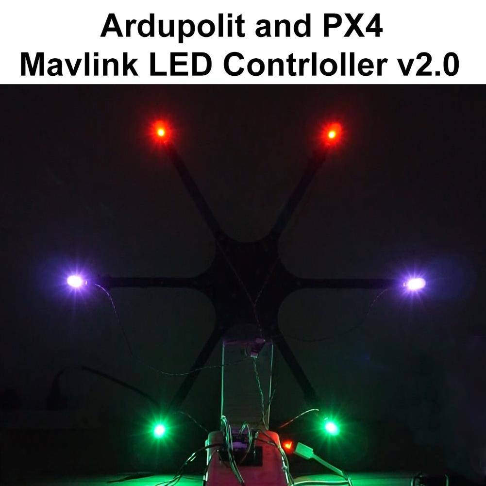 multi-rotor-parts Fishbonne Mavlink LED Navigation Light Board for Pixhawk 2/3/4/5 APM2.6/2.8 Pixracer NAVIO2 PXFmini Flight Controller RC Drone RC1445917 1