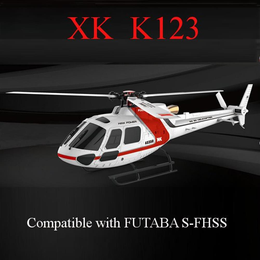 rc-helicopters XK K123 6CH Brushless AS350 Scale 3D6G System RC Helicopter BNF RC976343 2