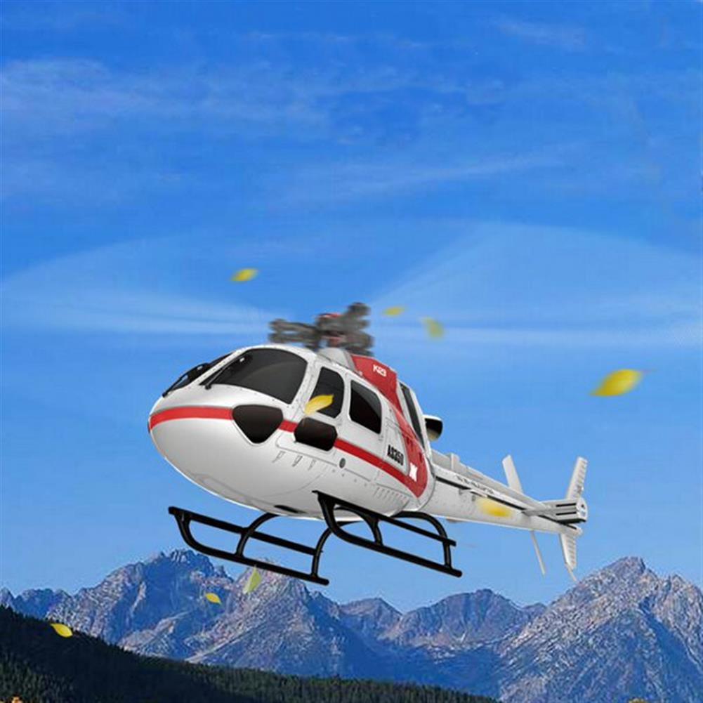 rc-helicopters XK K123 6CH Brushless AS350 Scale 3D6G System RC Helicopter BNF RC976343 3