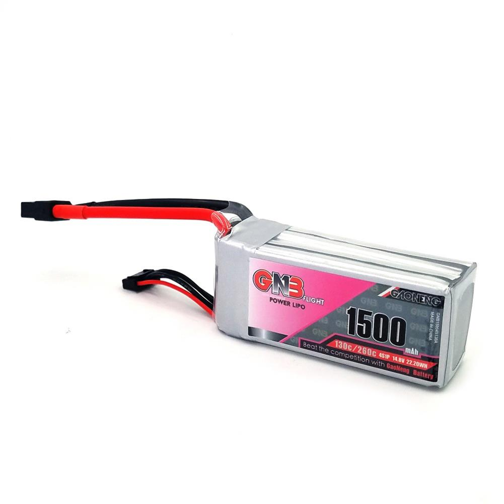 battery-charger Gaoneng GNB 14.8V 1500MAH 130C/260C 4S Lipo Battery XT60 Plug For RC Drone RC1291016