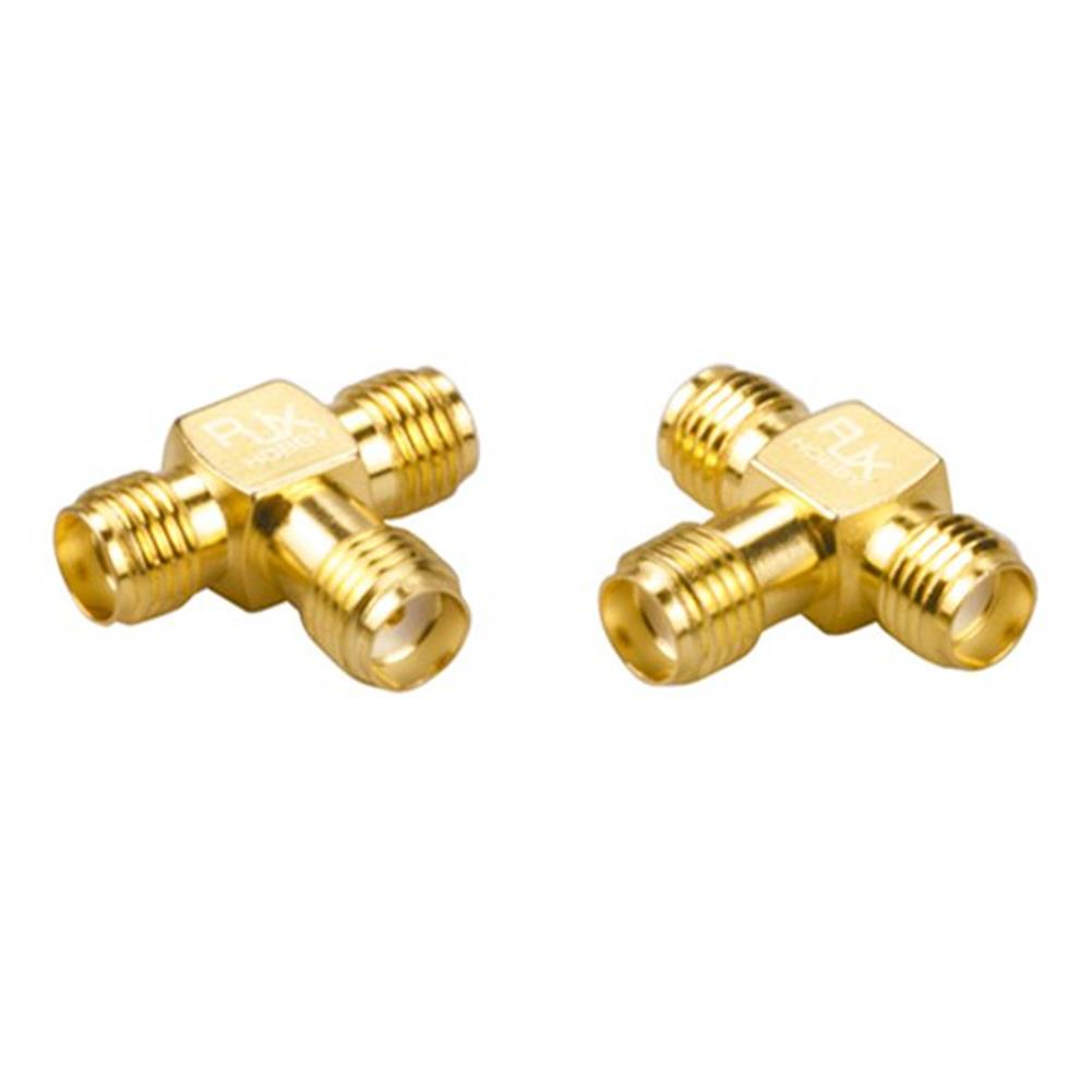 connector-cable-wire 2PCS RJX Hobby RJX2254 SMA Female Plug To Dual SMA Female T-type RF Coaxial Adapter Connector RC1291812