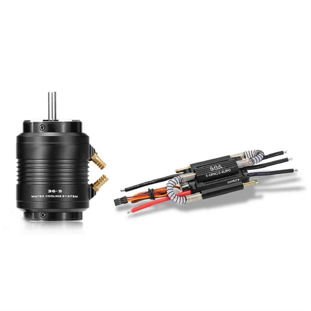 rc-boat-parts 3660 3250KV Brushless Motor 90A ESC 36-S Water Cooling Jacket Combo Set for 800-900mm Rc Boat Parts RC1292231