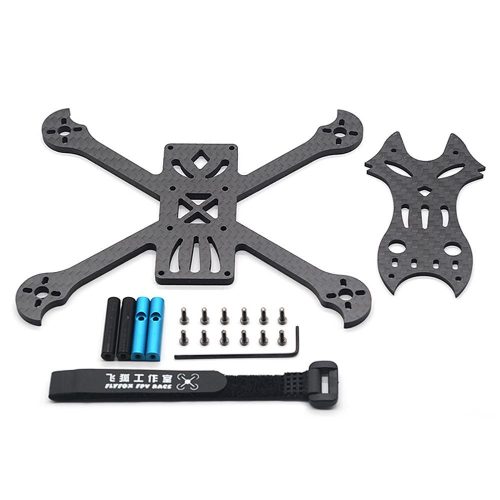 multi-rotor-parts FlyFox No.7 Sharp Claw 135mm Wheelbase 3mm Arm Carbon Fiber FPV Racing Frame Kit 30g RC1294274 4