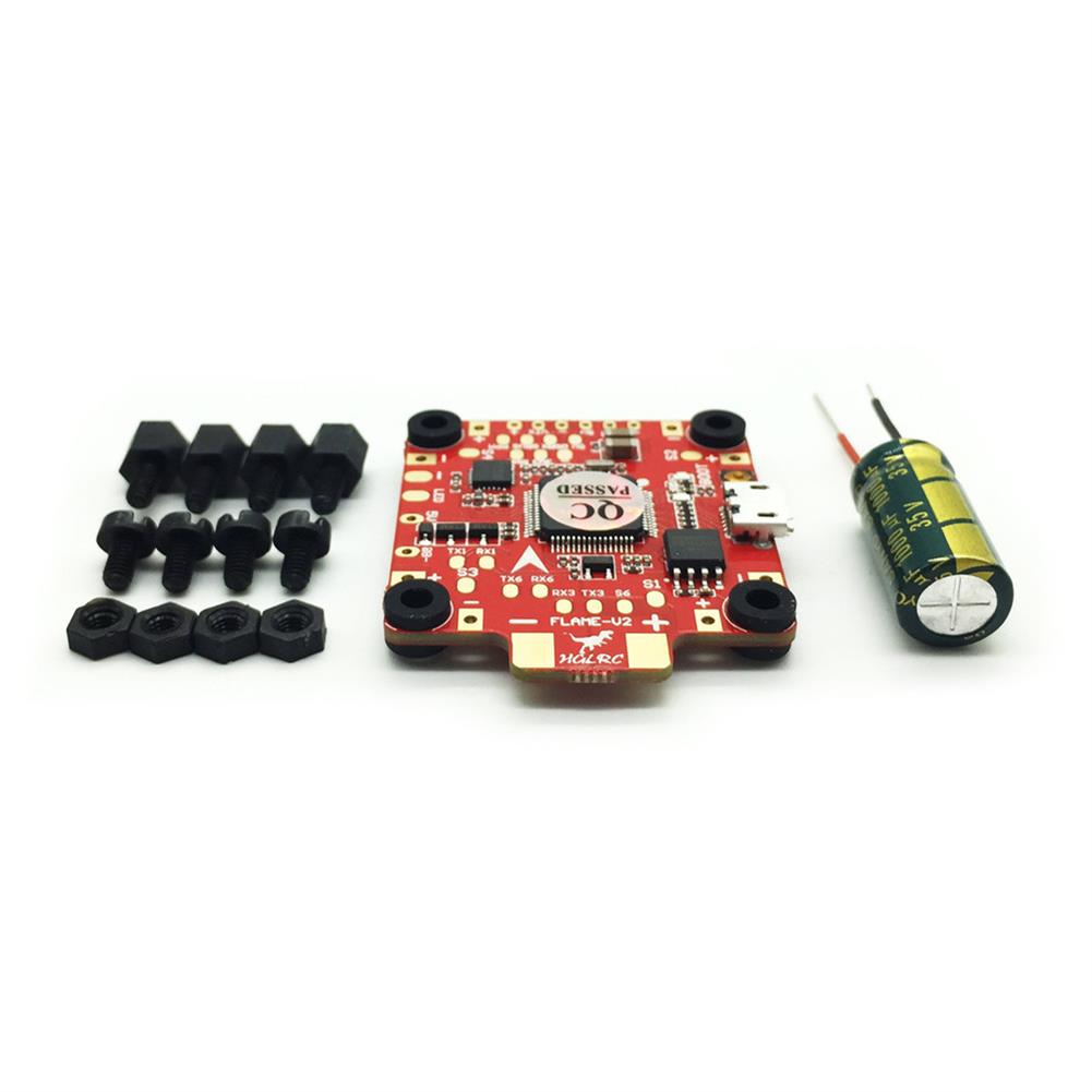 multi-rotor-parts HGLRC 30.5x30.5mm F4 FLAME V2 Flight Controller Betaflight OSD 5V BEC for RC Drone RC1295250 4