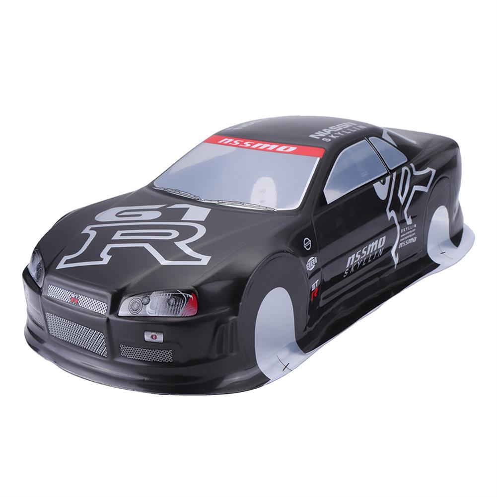 rc-car-parts 020GR 190MM Painted PVC Body Shell +Rear Wing For 1:10 RC Drift Racing Car Model Parts RC1297716