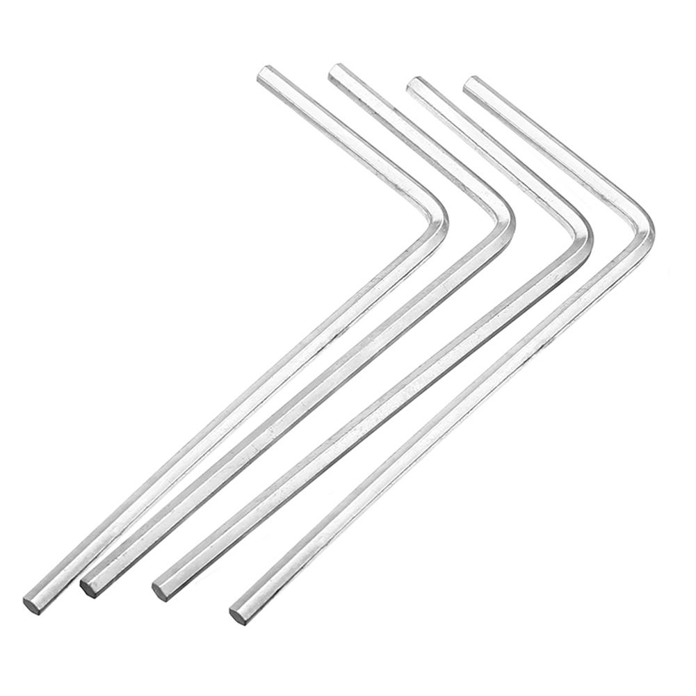 tools-bags-storage 4Pcs 4mm Metal Silver Hex Key Hex Wrench for M5 M6 Hex Screw RC1302096