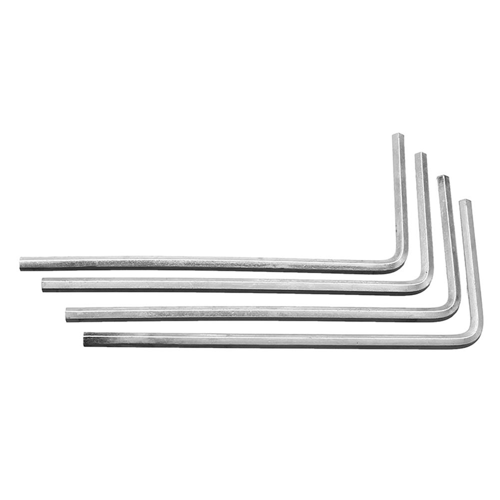 tools-bags-storage 4Pcs 4mm Metal Silver Hex Key Hex Wrench for M5 M6 Hex Screw RC1302096 5
