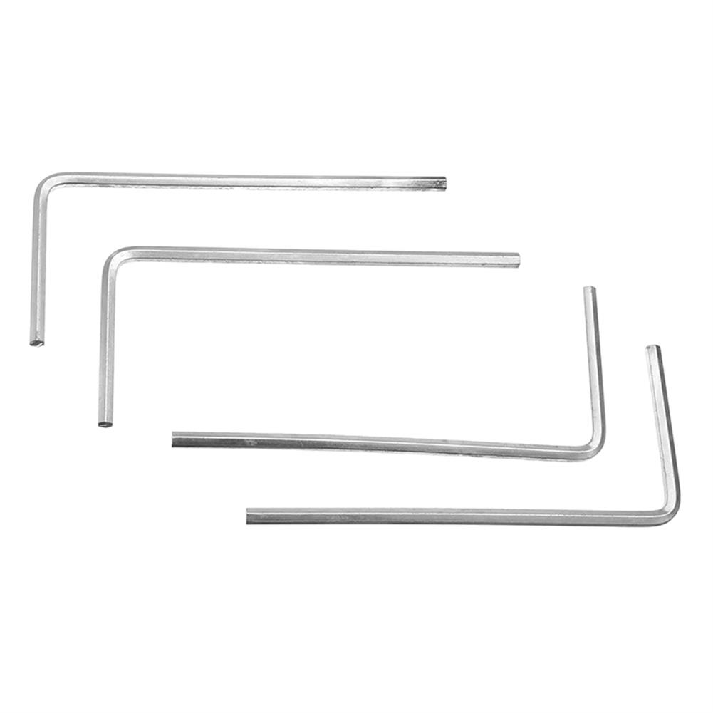 tools-bags-storage 4Pcs 4mm Metal Silver Hex Key Hex Wrench for M5 M6 Hex Screw RC1302096 7