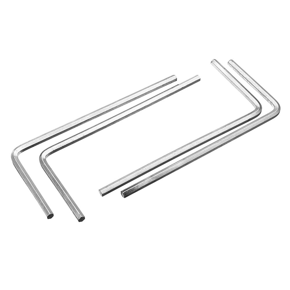 tools-bags-storage 4Pcs 4mm Metal Silver Hex Key Hex Wrench for M5 M6 Hex Screw RC1302096 8