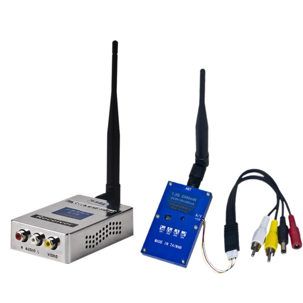 fpv-system 1.3G 2W 2000mW PAL/NTSC Wireless AV VTX FPV Transmitter Receiver Combo for RC Drone RC1311037