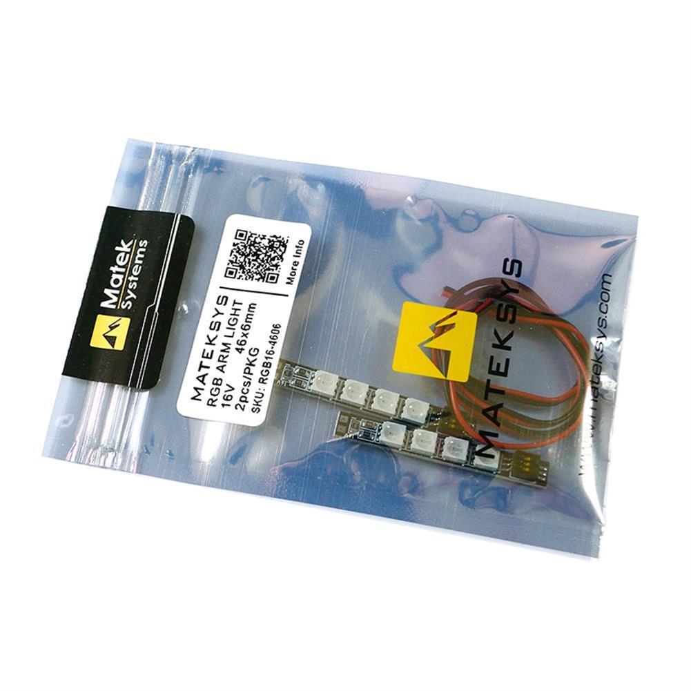 multi-rotor-parts 2PCS Mateksys RGB ARM 16V 46X6mm Light LED Strip Board for RC Drone FPV Racing RC1317607 3