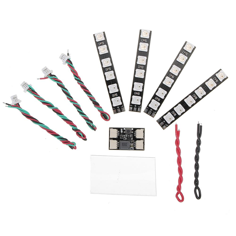 multi-rotor-parts 4 PCS WS2812 LED Strip Light 2-6S 7 Color Switchable with LED Controller Board for RC Drone RC1318556