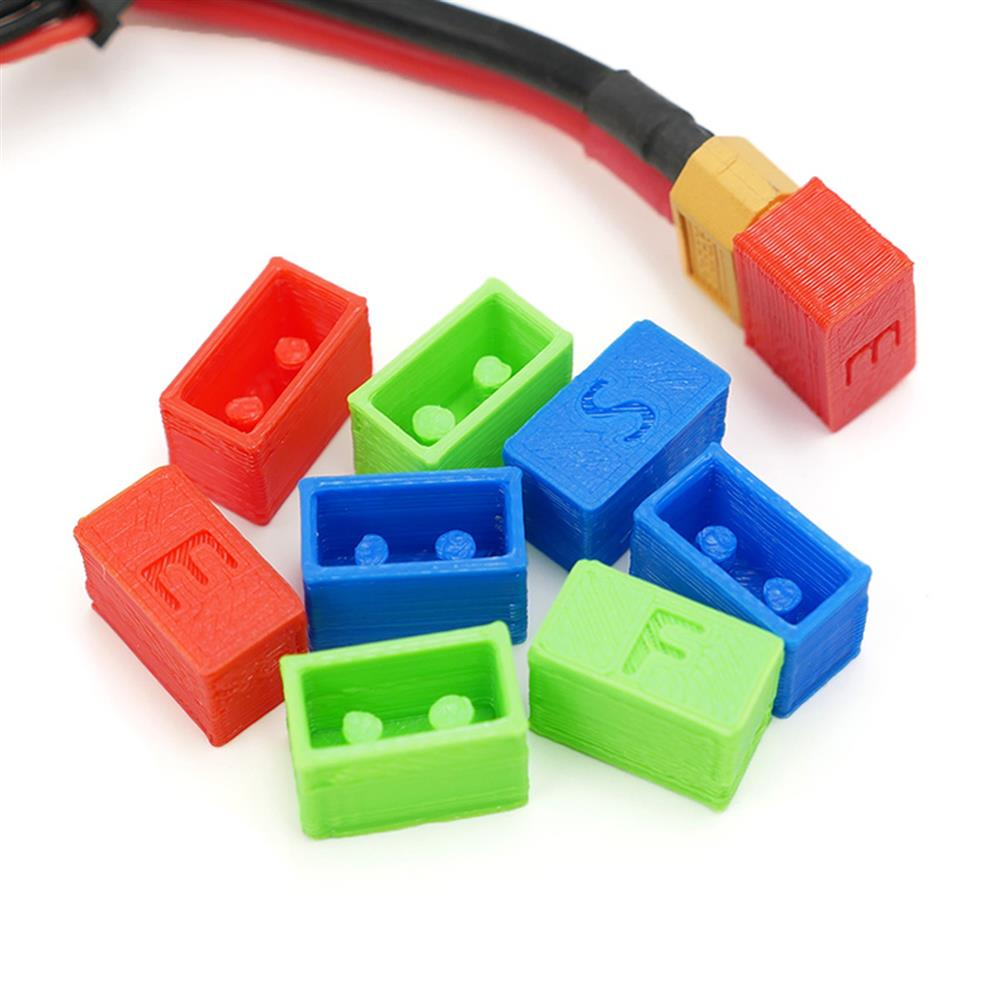 multi-rotor-parts Fishbonne 3D Printed XT60 Battery Plug Protection Cap Case Green Blue Red for RC Drone FPV Racing RC1324737