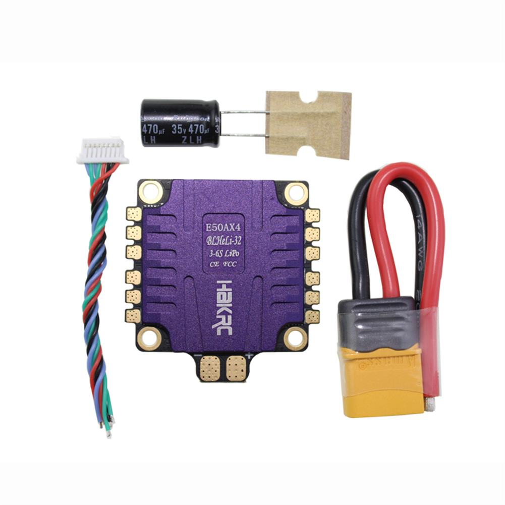 multi-rotor-parts HAKRC E50AX4 50A 4 IN 1 ESC 3-6S BLHeli_32 5V 3A BEC Dshot1200 For RC Drone FPV Racing Multi Rotor RC1331996 4