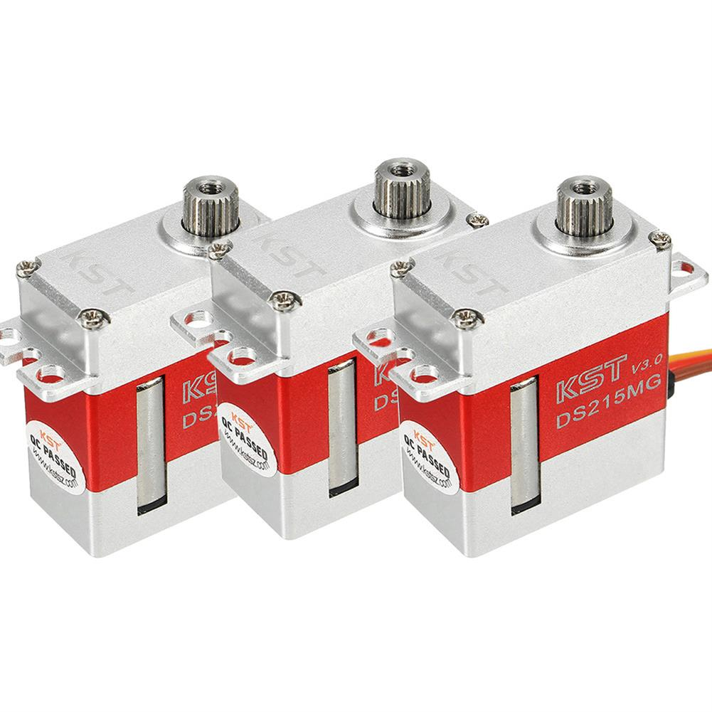 rc-servos 3PCS KST DS215MG V3.0 Stainless Steel Gear Digital Servo For 450 380 480 500 RC Helicopter RC1343821