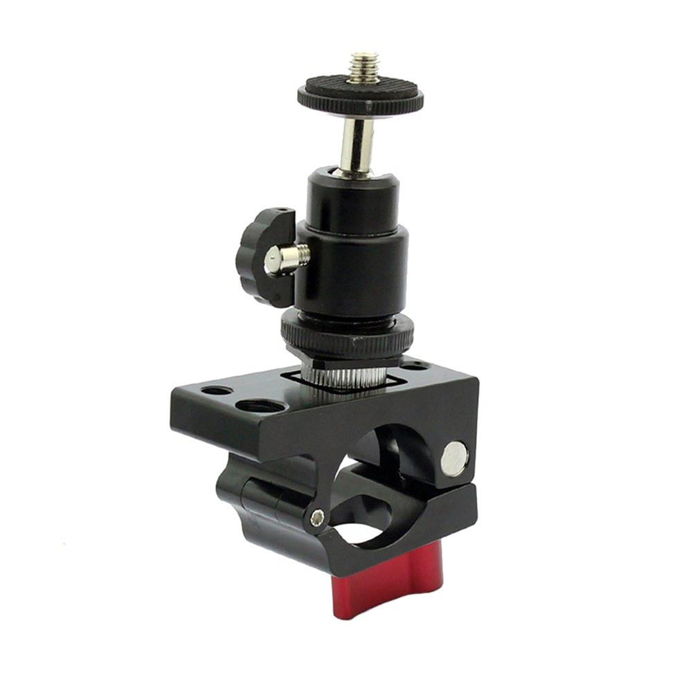 fpv-system 1/4 Screw Hot Shoe Ball Head Gimbal With 25mm-27mm Tube Clamp Clip Monitor Holder For DJI Ronin-M RC1347485