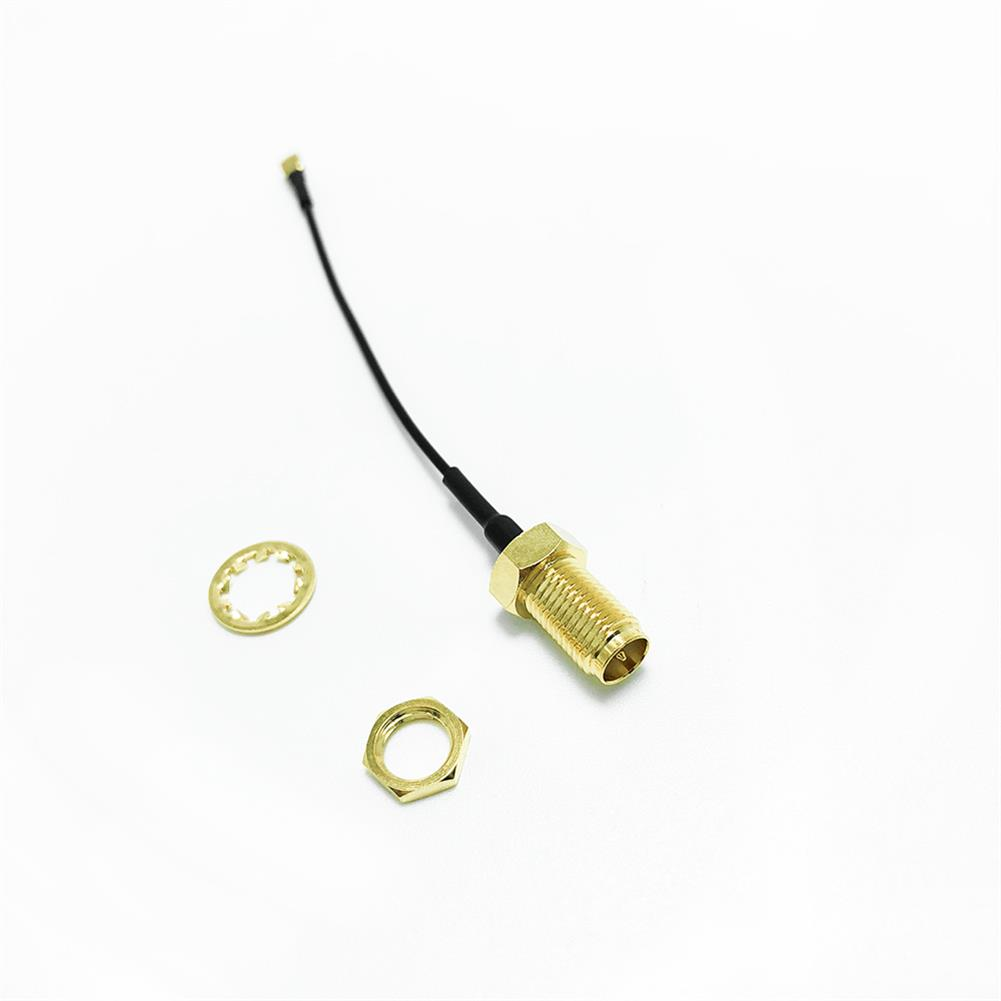 multi-rotor-parts Frsky RF Coax RP-SMA Female to IPEX Antenna Connector 70mm for X9D Plus QX7 DJT DFT DHT RC1347495 2