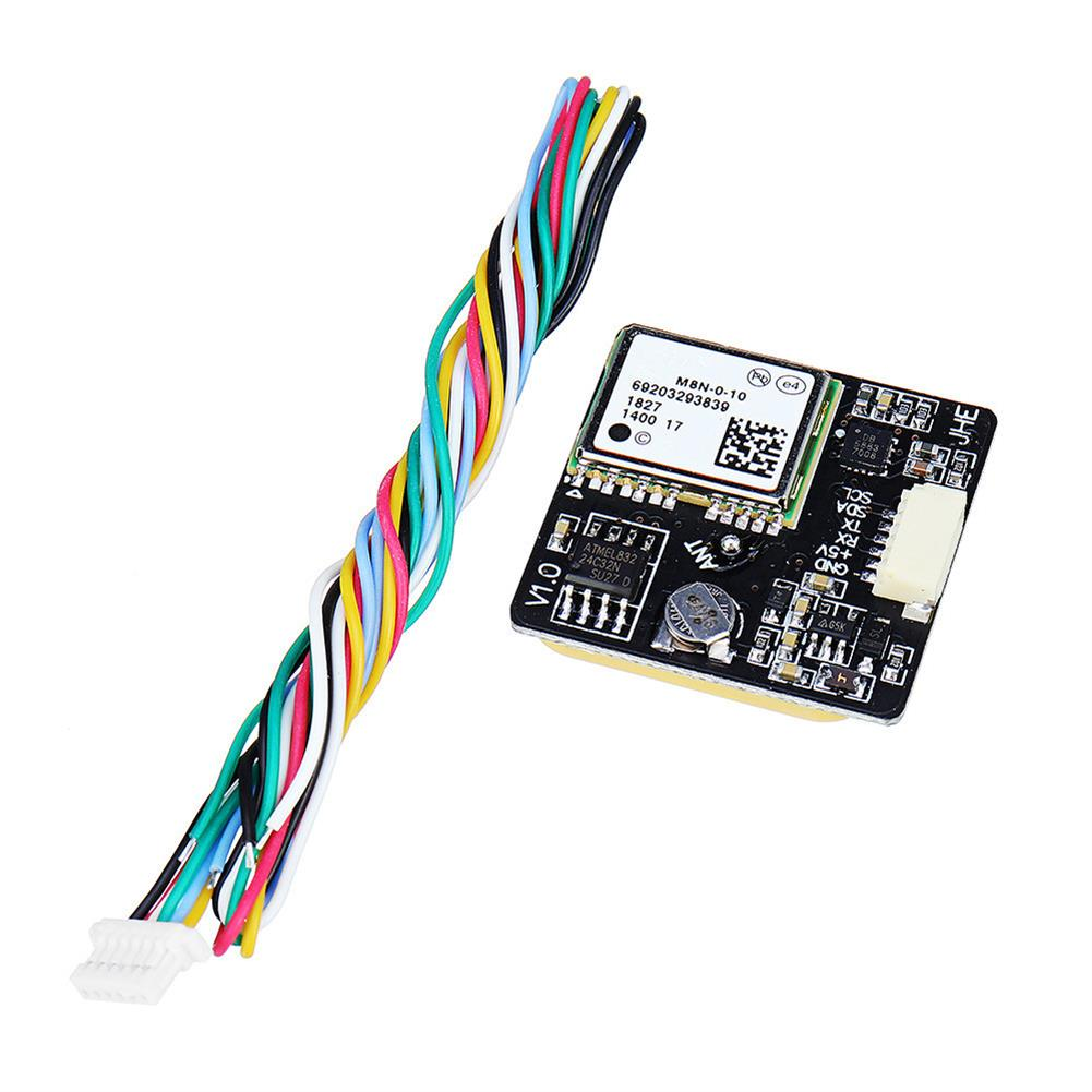 multi-rotor-parts JHE M8N GPS Module Built-in QMC5883 Compass for F3 F4 F7 INAV Flight Controller RC Drone RC1355962 8