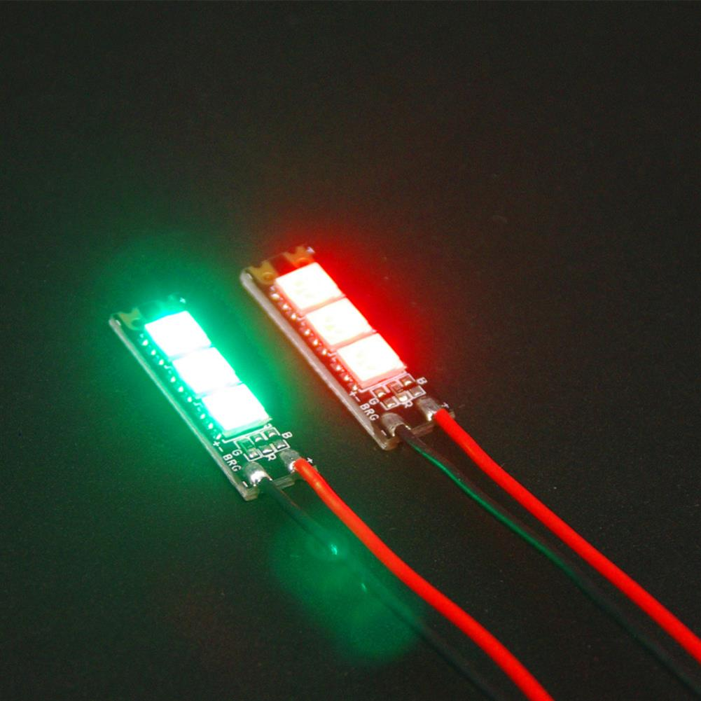 multi-rotor-parts 2 PCS Reptile 5V RGB5050 3 Bit LED Strip Light Red & Green Keep Bright for RC Drone FPV Racing RC1357371 2