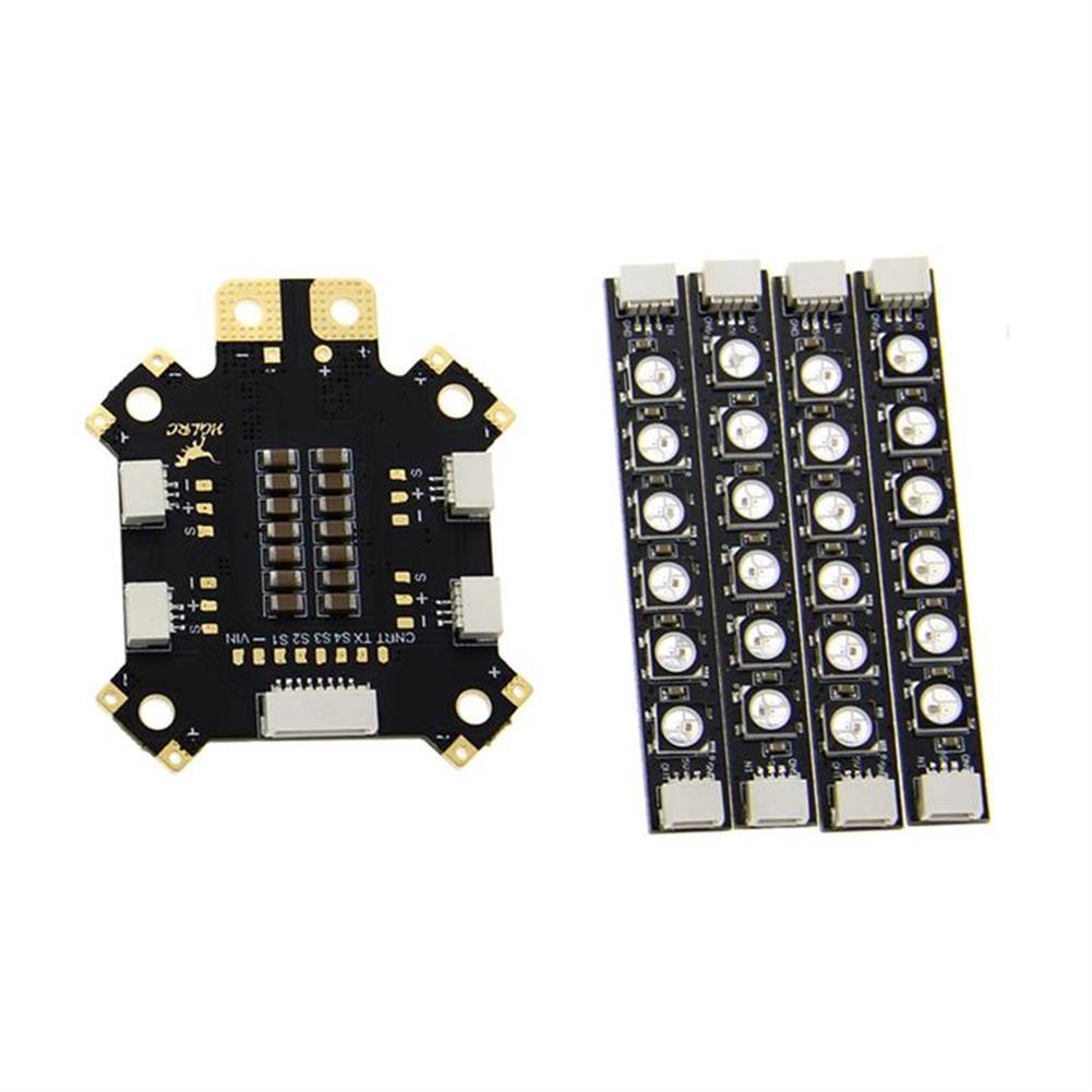 multi-rotor-parts HGLRC 2-6S Power Distribution Board PDB 5V/12V BEC w/ Single Row LED Strip 12V Output LED (28%Coupon: 28rc) RC1362235