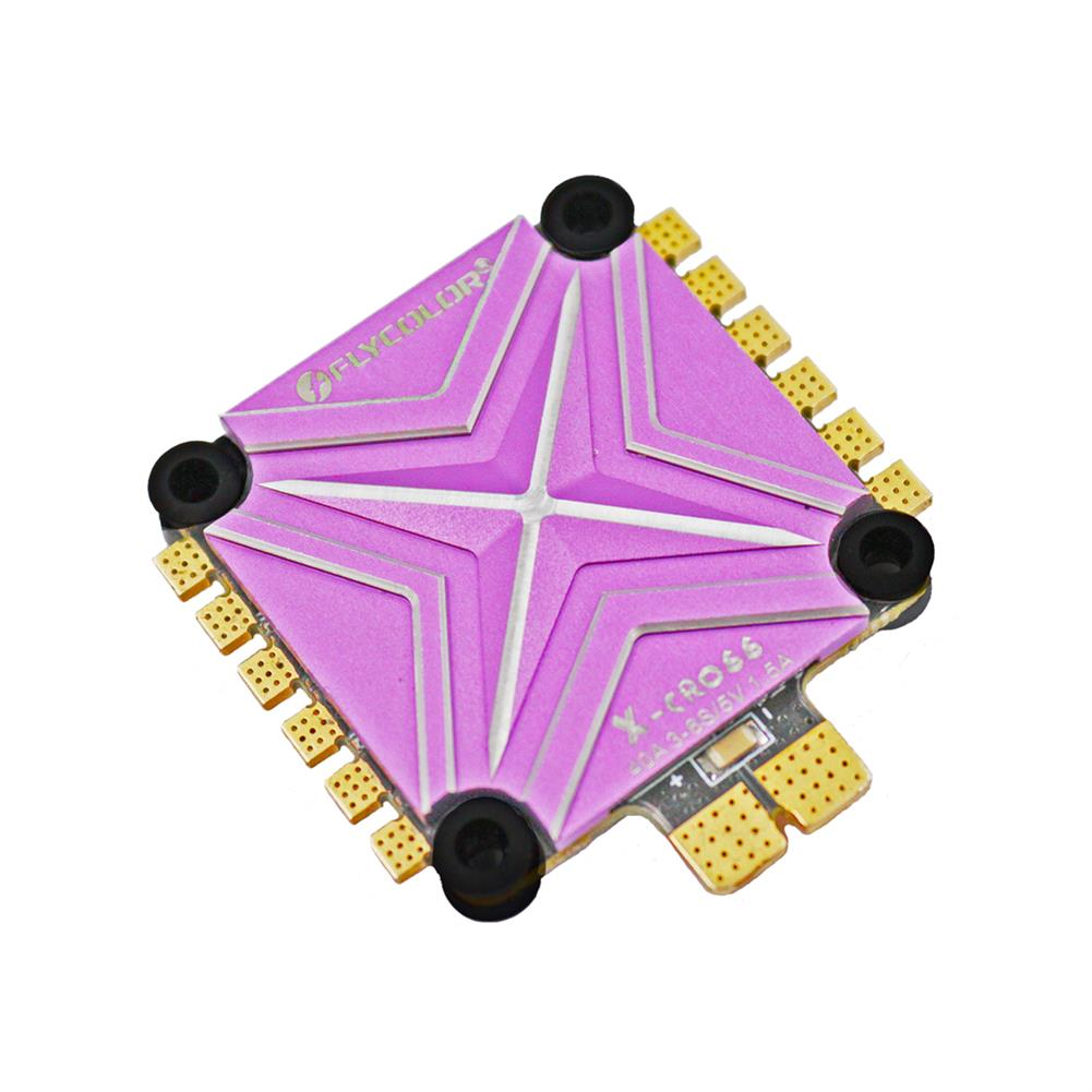 multi-rotor-parts Flycolor X-cross 40A 3-6S Blheli_32 32Bit 5V/1.5A BEC 4 IN 1 FPV Racing Brushless ESC RC1365893 1
