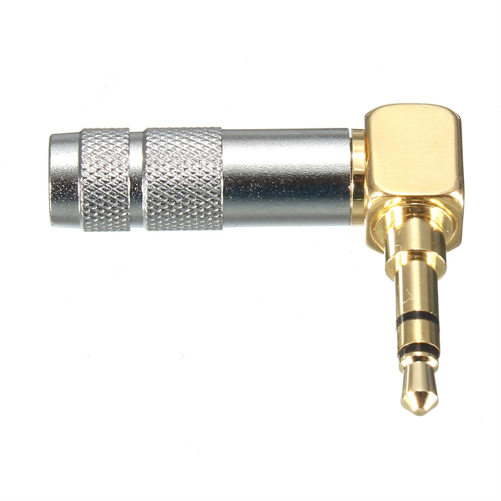 general-accessories 3.5mm Stereo 3 Pole Male Plug 90-Degree Audio Connector Solder Jack HOB1016302 2