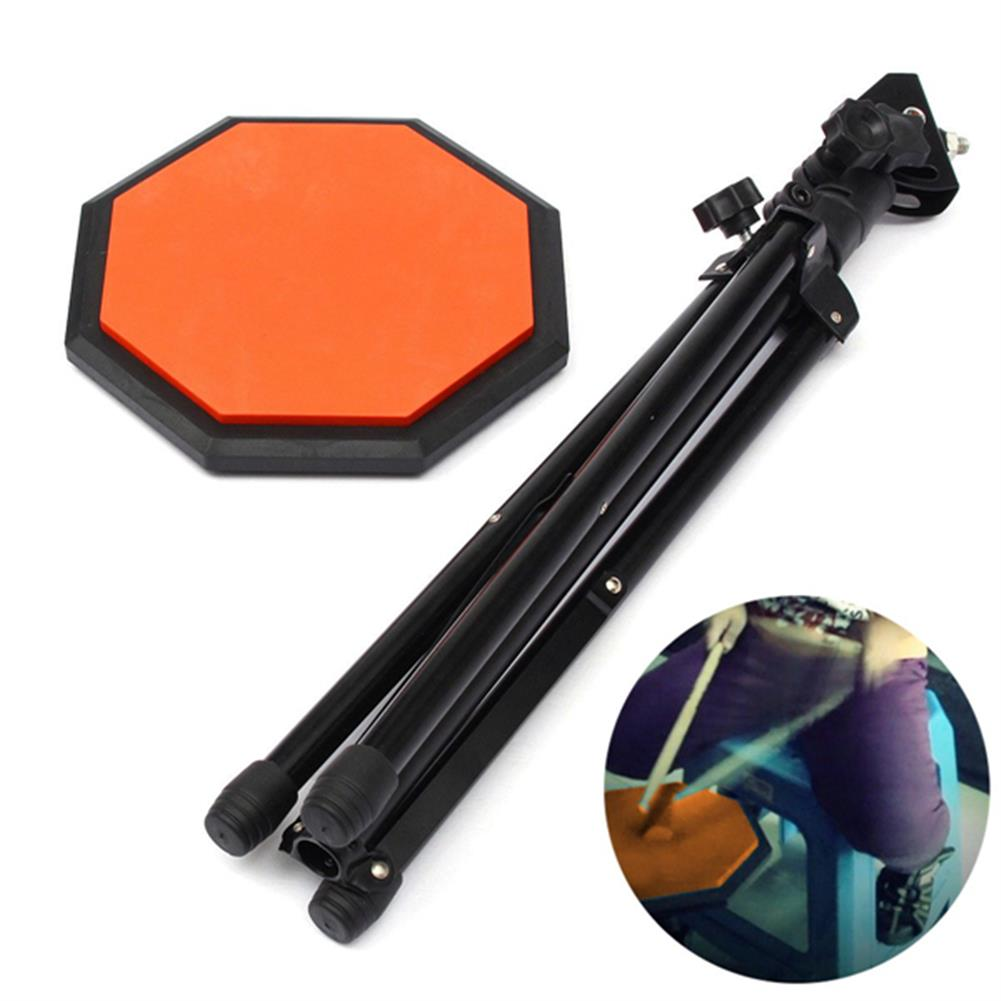 drum-sets 8'' 21cm Rubber Dumb Drum Practice Pads Set with Stand HOB1020557 1