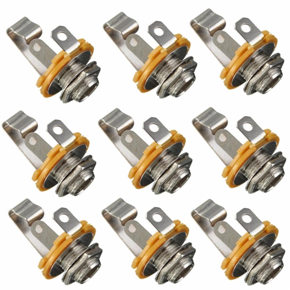 guitar-accessories 10Pcs 1/4'' 6.35mm Mono input Jack Socket for LP TL Electric Guitar Bass HOB1037339 1