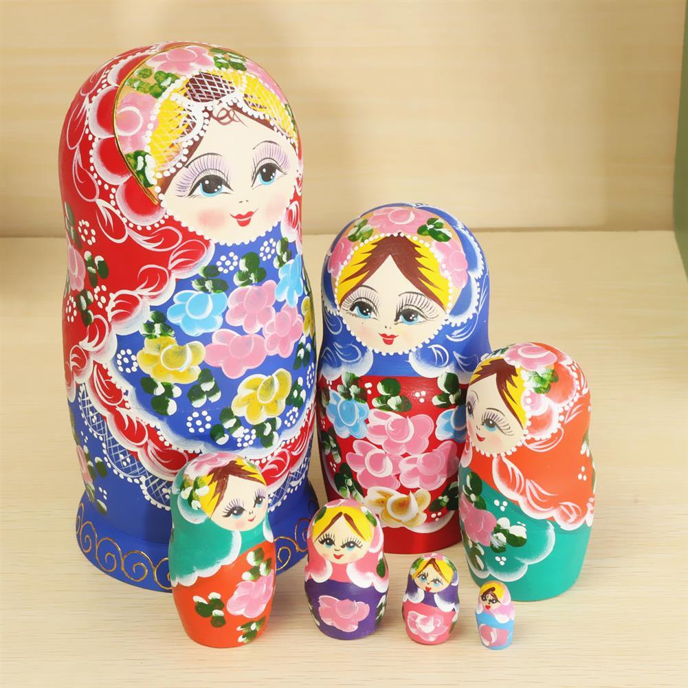 dolls-action-figure Matryoshka Set of 7 Nesting Dolls Madness Russian Wooden Dolls Toy HOB1040317